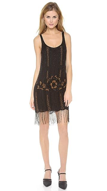 Haute Hippie Embellished Fringe Dress