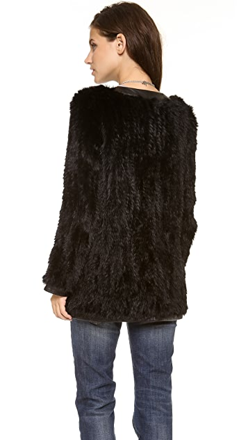 Haute Hippie Knit Bunny Jacket