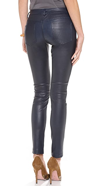 Haute Hippie Skinny Leather Pants