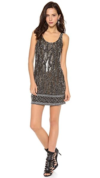 Haute Hippie Beaded Tank Dress