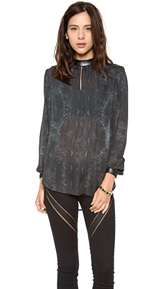 Haute Hippie Long Sleeve Blouse