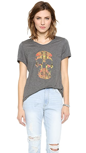 Haute Hippie Studded Skull Morning After Tee