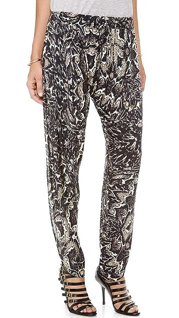 Haute Hippie Printed Harem Pants