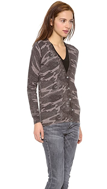 Haute Hippie Abstract Camo Sweater
