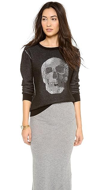 Haute Hippie Birds Eye Skull Sweater