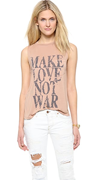 Haute Hippie Make Love Not War Muscle Tee