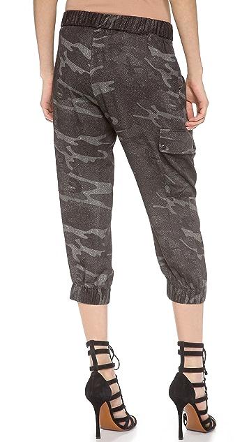 Haute Hippie Cropped Cargo Pants