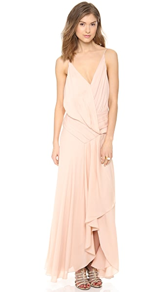 Haute Hippie Falling Pleats Gown