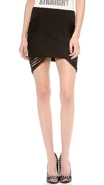 Haute Hippie Fringe Pencil Skirt
