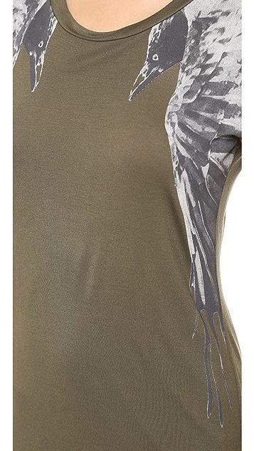 Haute Hippie Rolled Sleeve Raven Dress