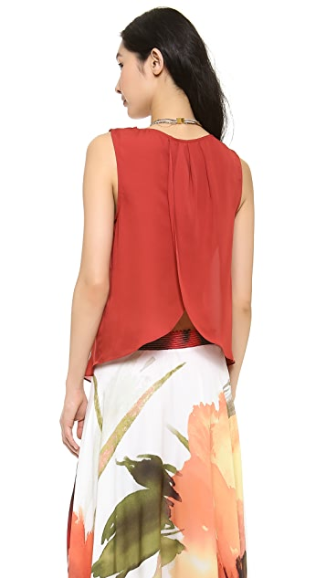 Haute Hippie Blouse with Flyaway Back