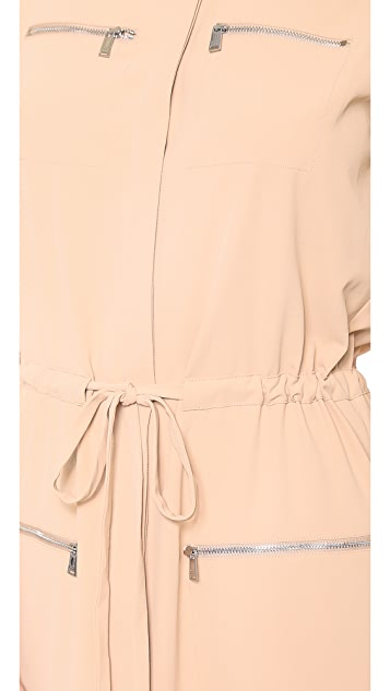 Haute Hippie Draped Cargo Shirtdress