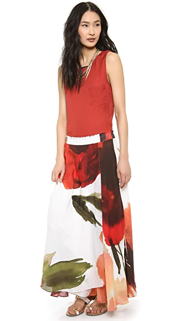 Haute Hippie TWP Vintage Floral Maxi Skirt