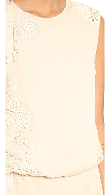 Haute Hippie Tucked Lace Dress
