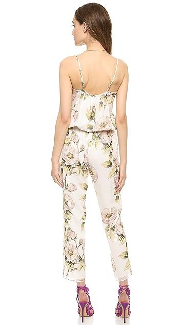 Haute Hippie Drawstring Floral Jumpsuit