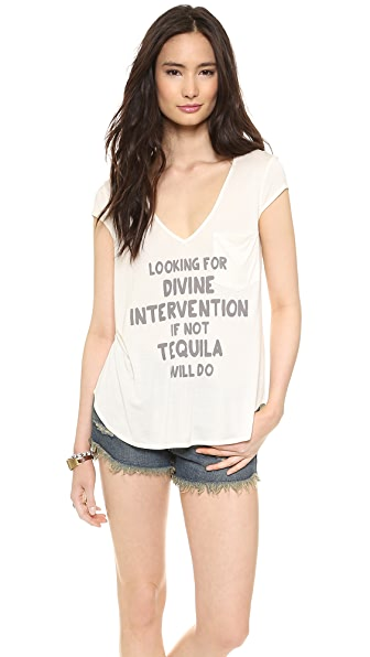 Haute Hippie Rolled Sleeve Divine Intervention Tee