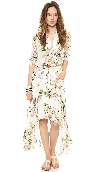Haute Hippie Long Printed Dress
