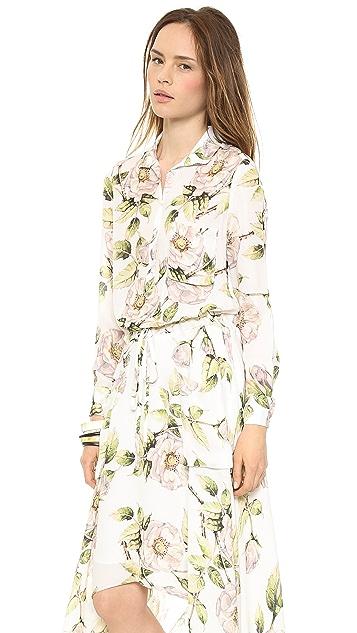 Haute Hippie Long Printed Dress
