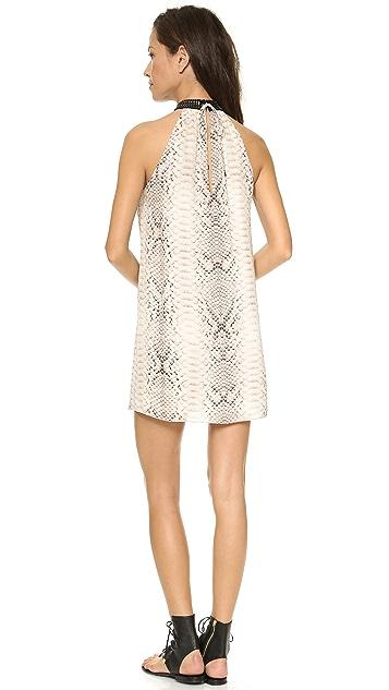 Haute Hippie Collar Sleeveless Dress