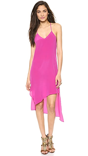Haute Hippie Asymmetrical Hem Dress