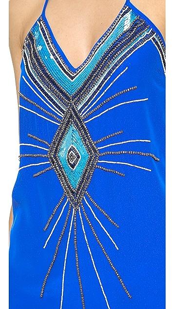 Haute Hippie V Neck Embellished Dress