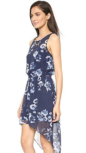 Haute Hippie Floral High Low Dress