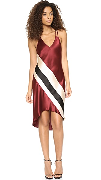Haute Hippie Cami Stripe High Low Dress