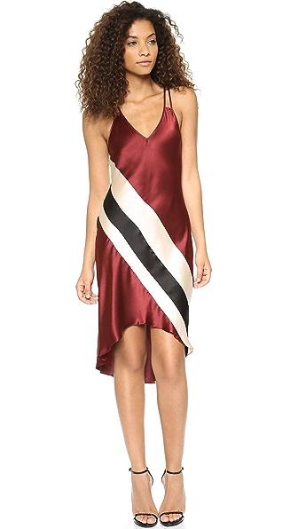 Haute Hippie Cami Stripe High Low Dress
