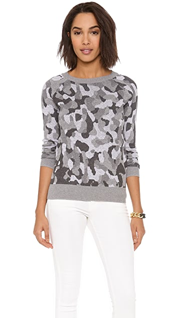 Haute Hippie Bird's Eye Jacquard Sweater