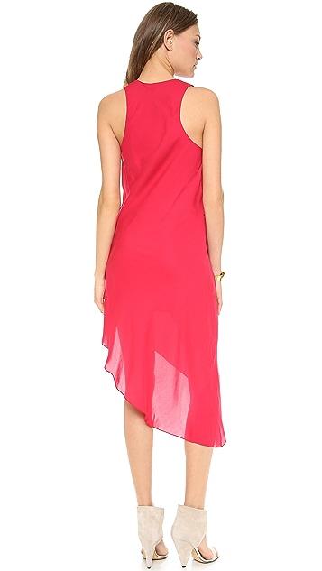 Haute Hippie Asymmetrical Side Tuck Dress