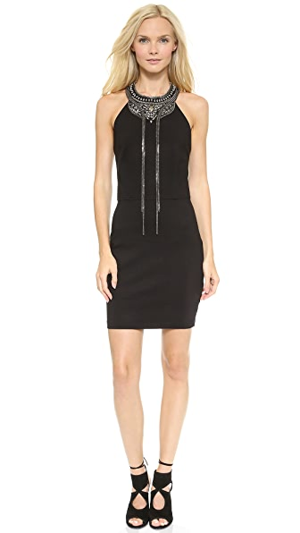 Haute Hippie Embellished Ponte Dress