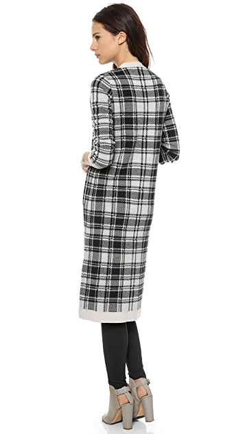 Haute Hippie Argyle Sweater Coat