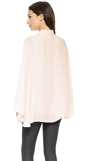 Haute Hippie Cape Blouse