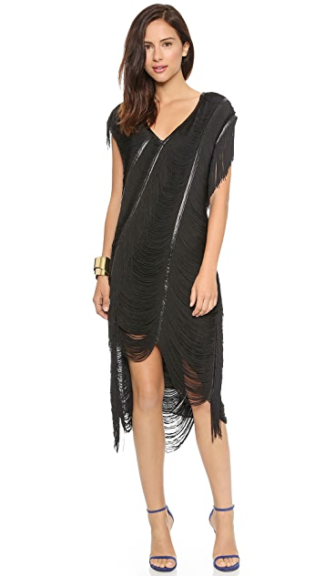 Haute Hippie Beloved Louise Fringe Dress