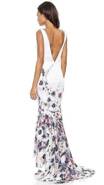 Haute Hippie Meadow Floral Gown
