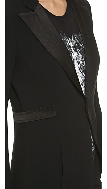 Haute Hippie Asymmetrical Long Tux Jacket