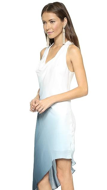 Haute Hippie Side Tuck Ombre Dress