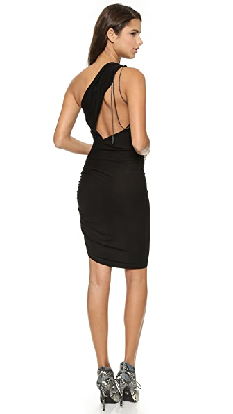 Haute Hippie One Shoulder Dress with Chains