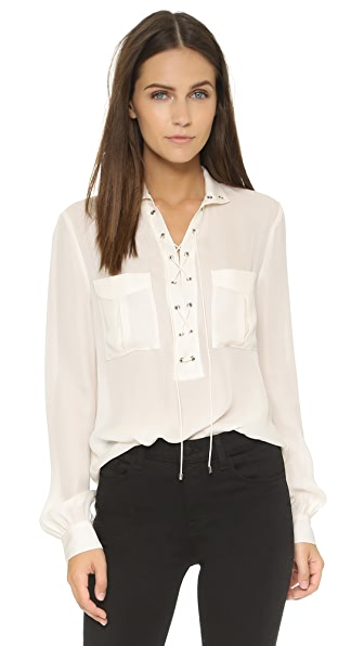 Haute Hippie Gypsy Lace Up Blouse | SHOPBOP SAVE UP TO 25% Use ...