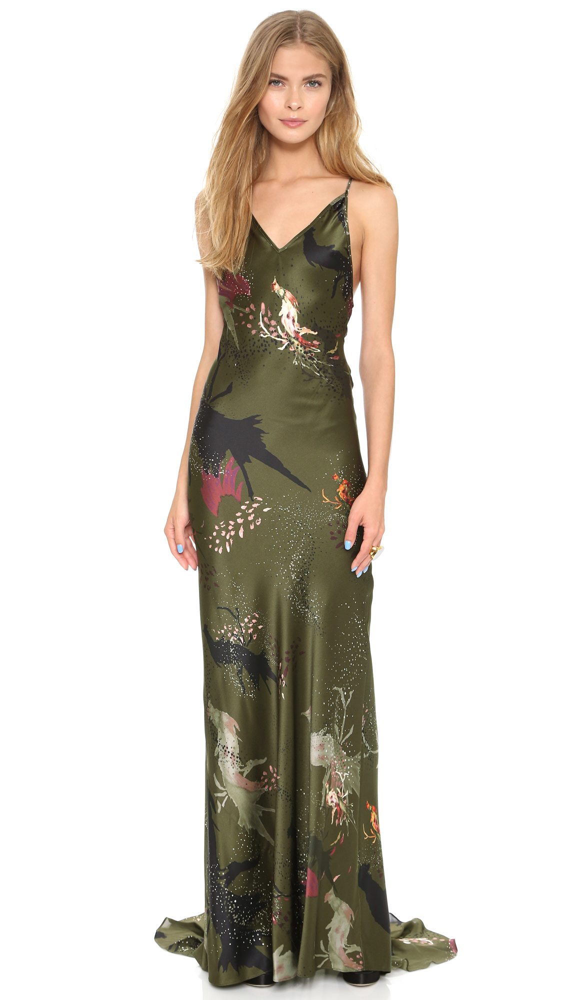 Haute Hippie Strappy Back Gown | SHOPBOP