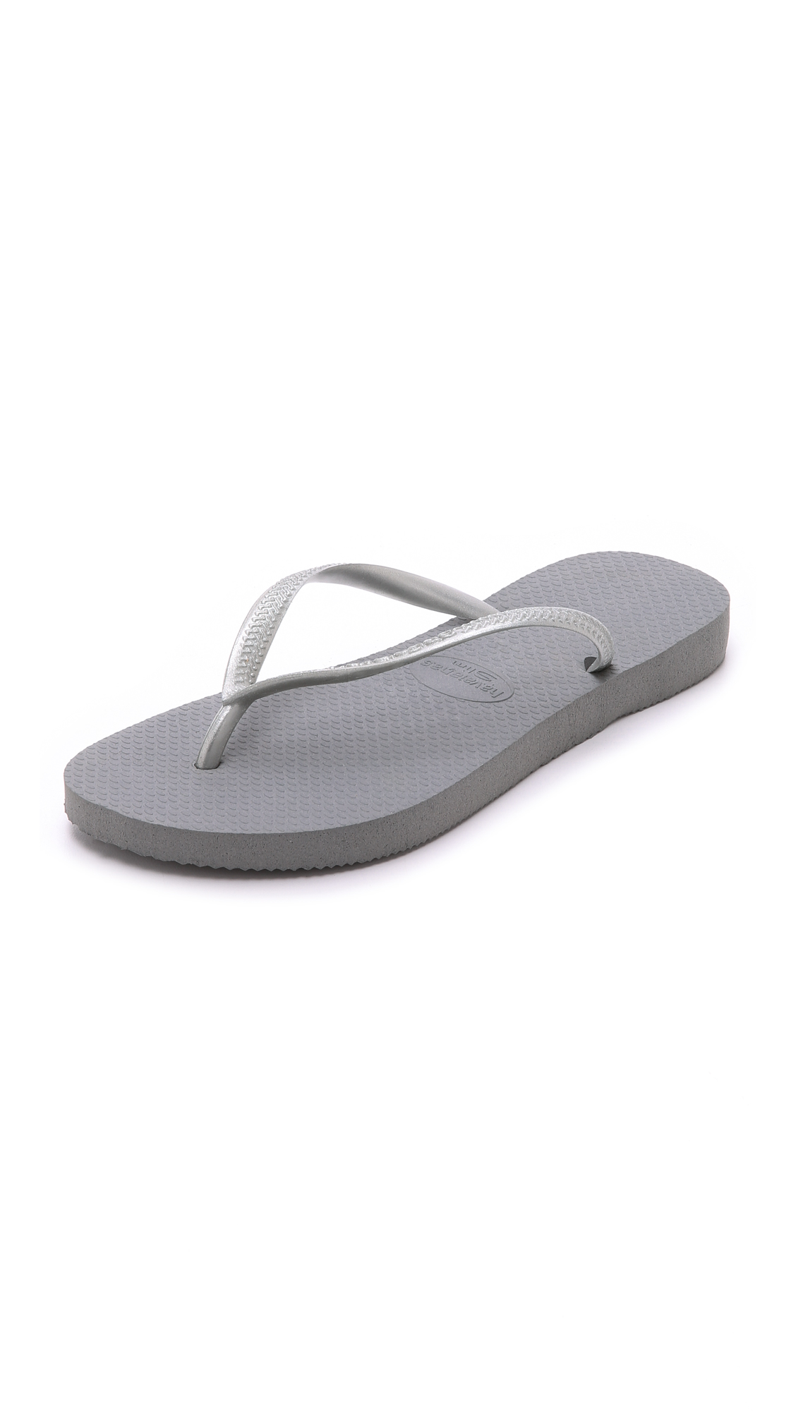 Havaianas Slim Flip Flops - Grey/Silver at Shopbop