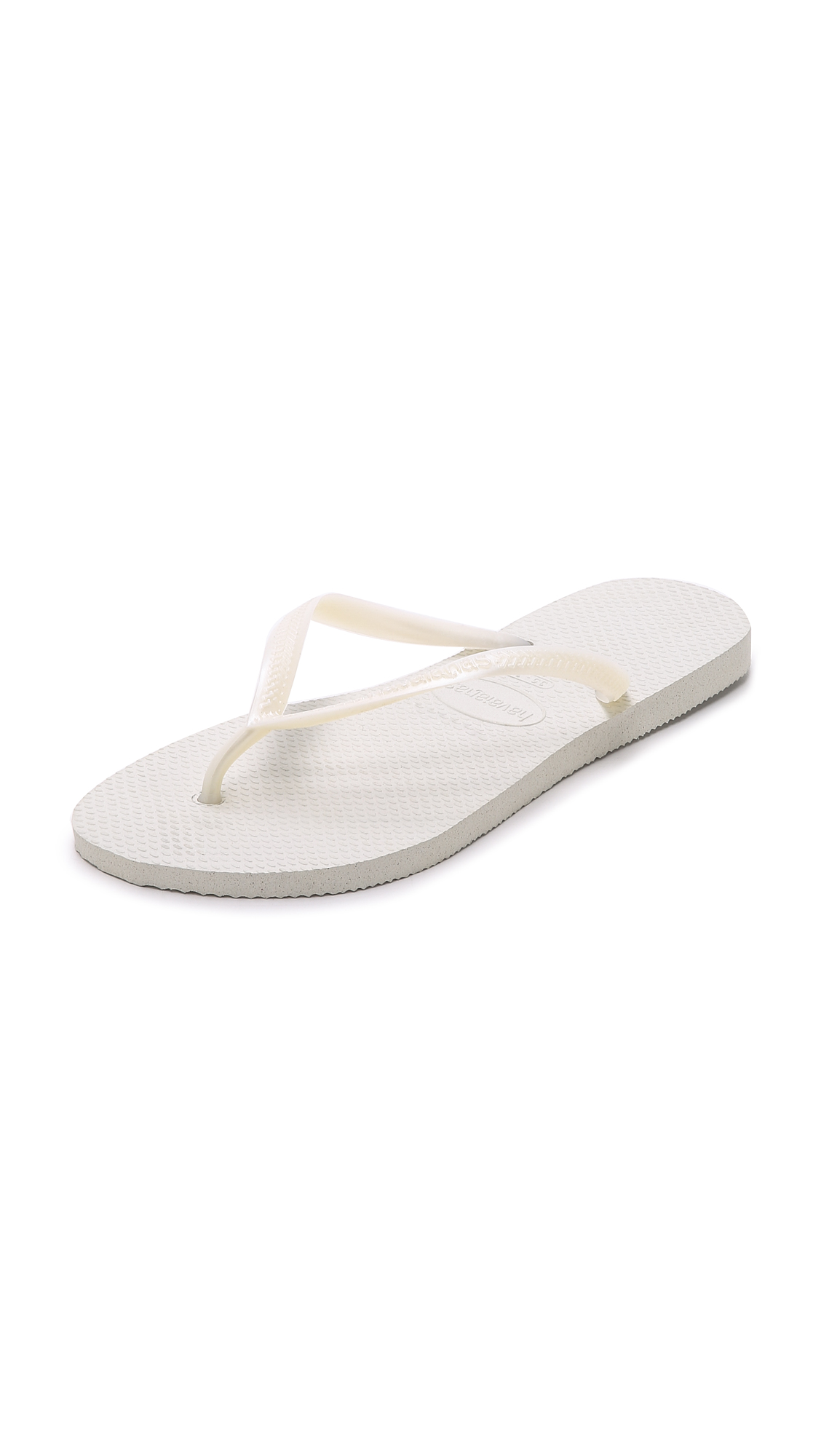 Havaianas Slim Flip Flops - White at Shopbop
