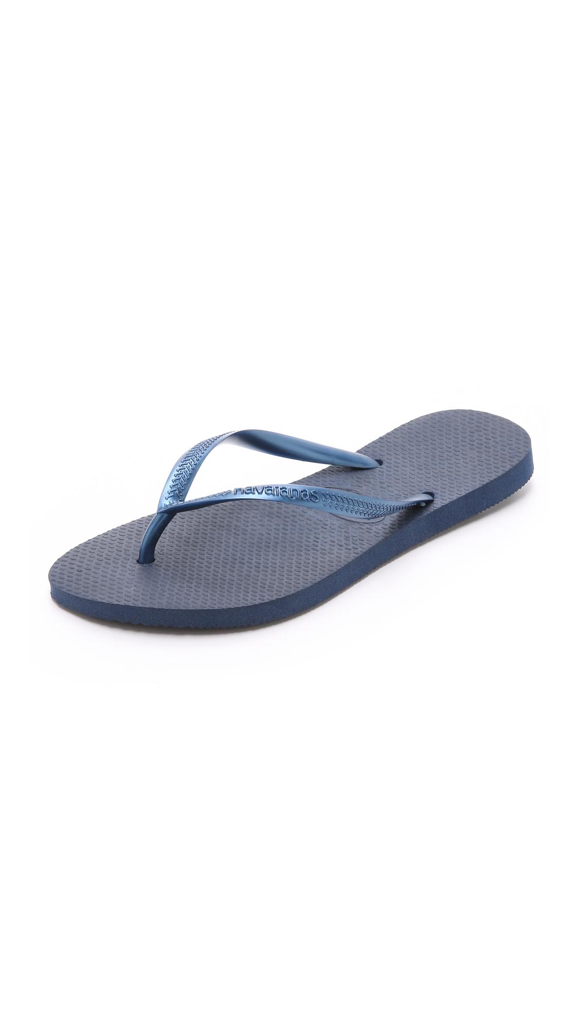 Havaianas Slim Flip Flops - Navy at Shopbop