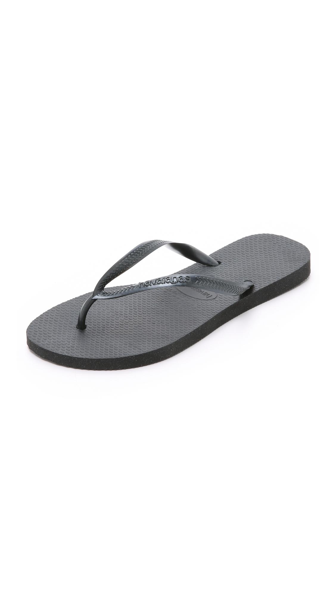 Havaianas Slim Flip Flops - Black at Shopbop