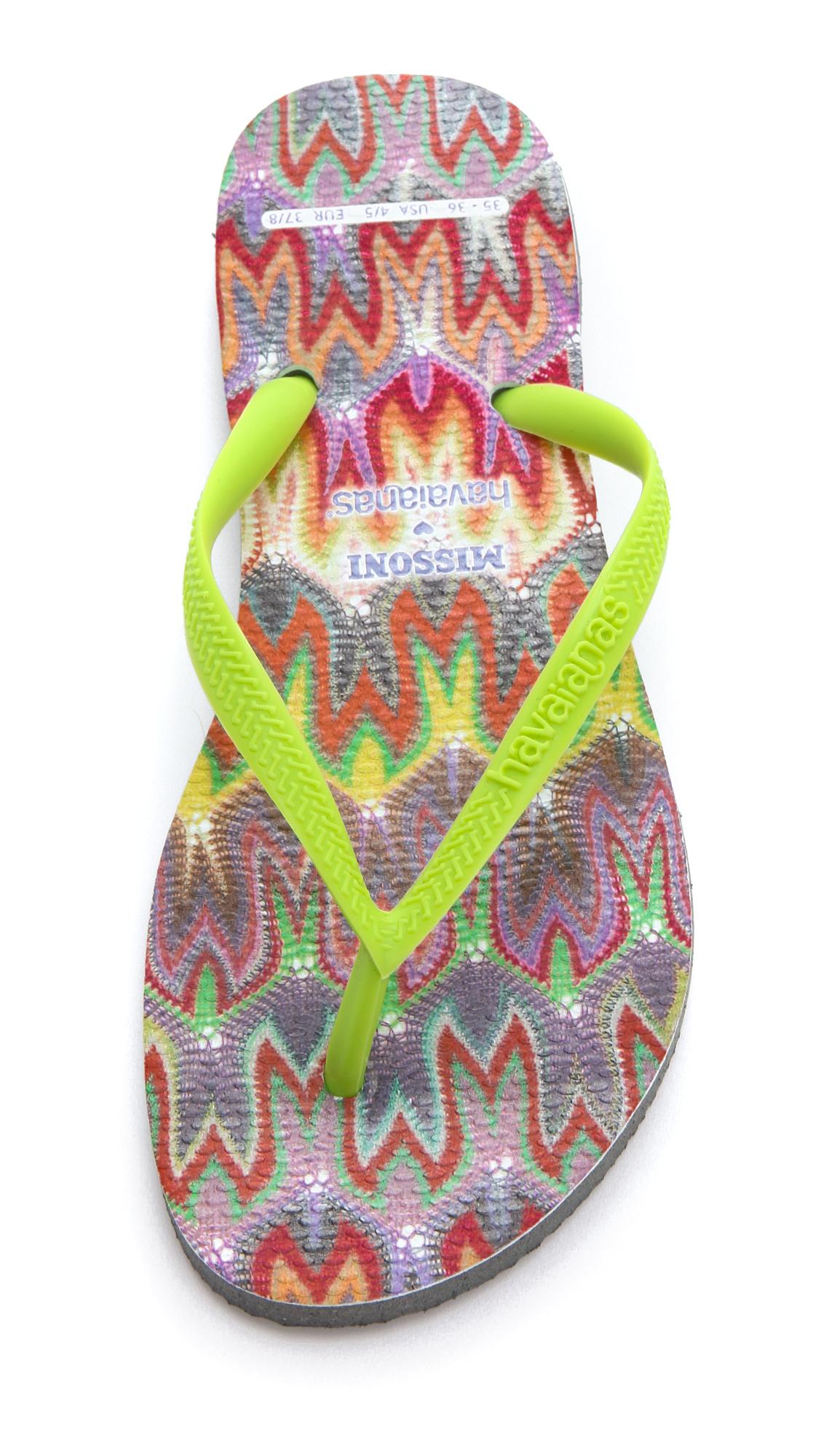 c0351669d85a7 Havaianas Missoni + Havaianas Slim Flip Flops