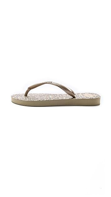 Havaianas Slim Leopard Flip Flops