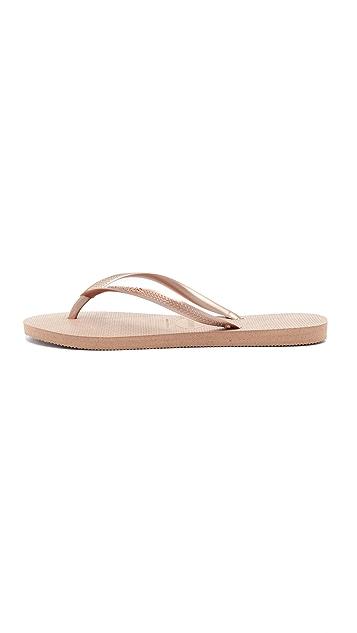 Havaianas Slim Solid Flip Flops