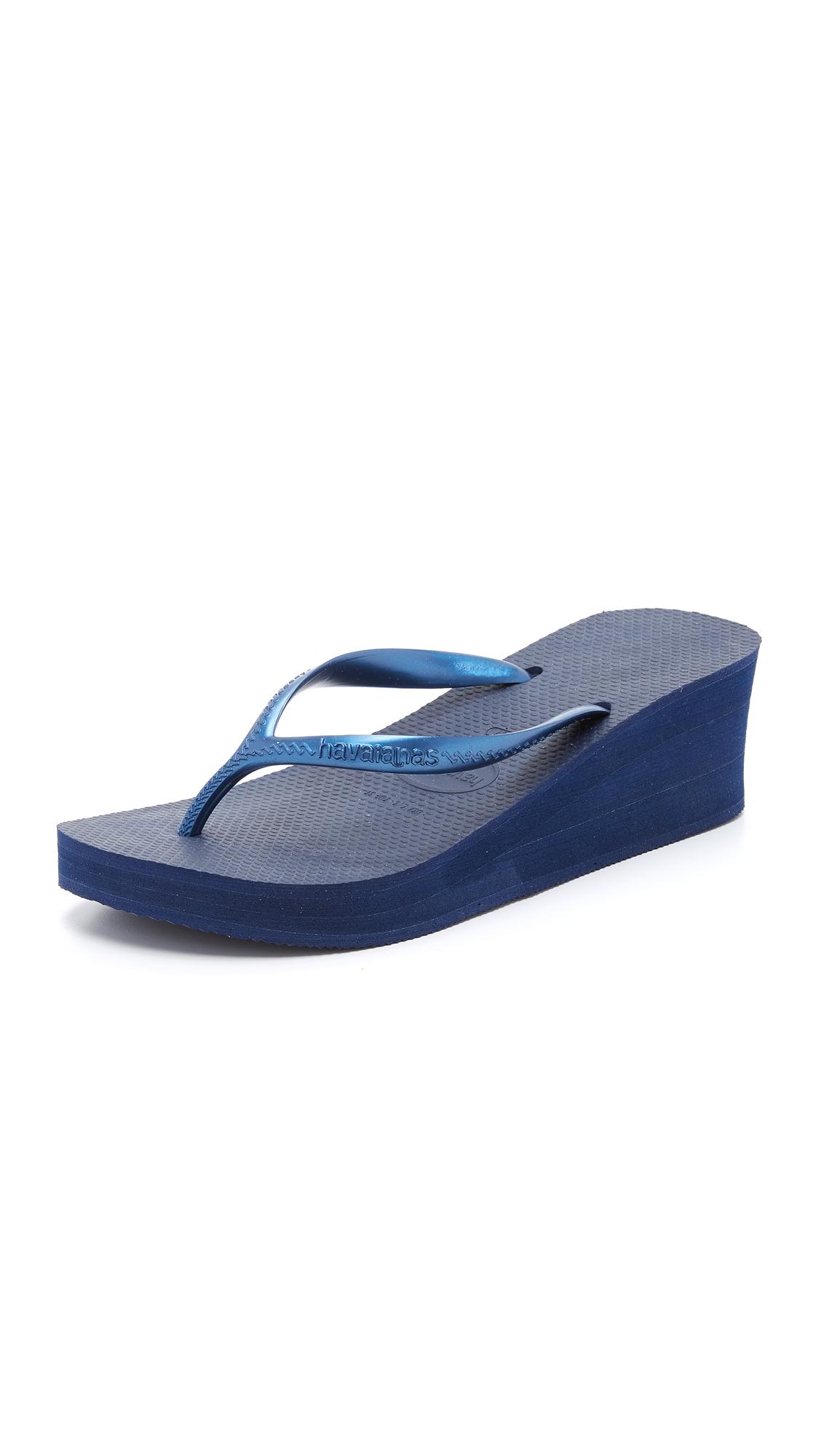Havaianas High Fashion Wedge Sandals - Navy at Shopbop