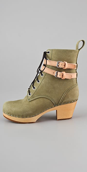 Swedish Hasbeens Ankle Wrap Combat Boots