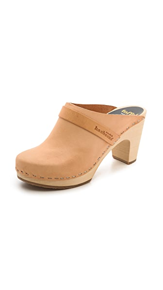 Swedish Hasbeens Slip On Classic Clogs